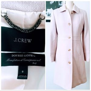 J CREW DOUBLE-CLOTH LADY DAY COAT IN ANTIQUE LINEN